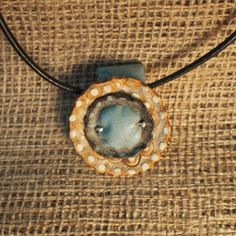 Leather Necklace inspired by the prairie.