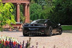 Beautiful Shot of a Black Ferrari 458 Italia