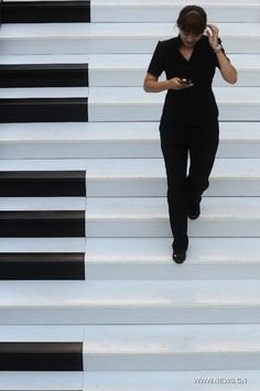 In China, 'Piano Staircase' Lets You Make Music By Walking Up And Down - DesignTAXI.com
