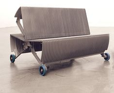 de_escalator: Furniture made out of an old escalator by gabarage | Please subscribe to my weekly newsletter at upcycle.com !  #upcycle