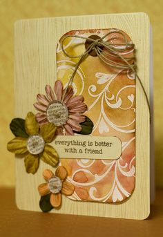 Distressing resist stamping tutorial by Jennifer McGuire.