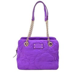 Pre-owned Kate Spade Nylon 88967 Shoulder Bag ($183) ❤ liked on Polyvore featuring bags, handbags, shoulder bags, purple, nylon purse, purple purse, pre owned purses, nylon shoulder bag and purple shoulder bag