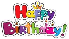Colorful Happy Birthday PNG Clipart Image