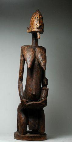 dogon, maternity, statue, african art, artenegro, gallery, african tribal arts, mali