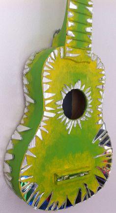 Lime Green Mirror Ukulele by BeesCuriosityShoppe on Etsy