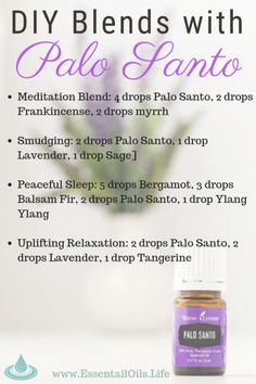 """Palo Santo, also known as """"Holy Wood,"""" is an inspiring oil that can be diffused to help cleanse and refresh your home or office and body. Diy Essential Oil Diffuser, Essential Oil Spray, Essential Oil Perfume, Doterra Essential Oils, Essential Oil Blends, Young Living Oils, Young Living Essential Oils, Palo Santo Essential Oil, Smart Tv"""
