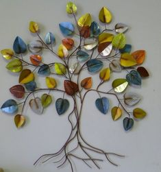 Metal Art Projects, Metal Wall Decor, Wall Decorations, Tree Of Life, Metal Walls, Trees, Contemporary, Cool Stuff, Abstract