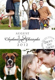 Save the Date example  Postmarked Montage with dog, could do as magnet