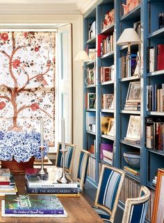 Library + Bookshelf Decorating Ideas. 22 of the most beautiful libraries in Vogue.