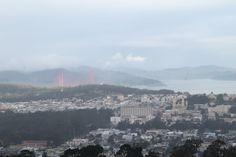 Les Gommettes de Melo: Vue de San Francisco des Twin Peaks. Au loin le Golden Gate Bridge.