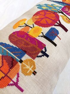 Forest modern trees cross stitch pattern PDF by SatsumaStreet