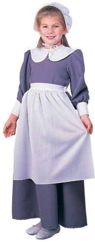 Pilgrim Girl Costume, As Shown, Child Small >>> See this great product.