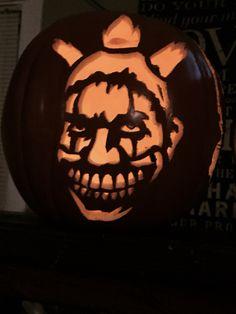 Twisty the clown pumpkin