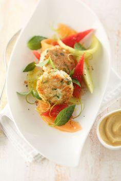 Crab Cake mit marinierten Melonen - Johann Lafer Rezepte - MSN Lifestyle