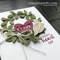 Valentines Day Decorations, Valentines Diy, Card Making Inspiration, Making Ideas, Stampin Pretty, Happy Hearts Day, Valentine Greeting Cards, Stampin Up Catalog, Paper Hearts