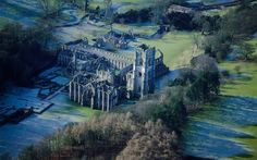 Britain From Above: Month by Month by Jason Hawkes | The ruins of Fountains Abbey