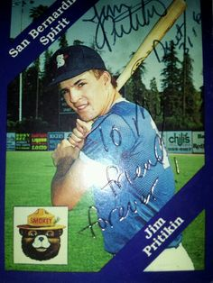 Jim Pritikin's 1989 card. A gift to me from my friend. I'll always treasure it.