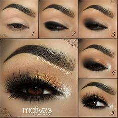 Gorgeous Gold Dust Smoky Eye Tutorial with Aurora Makeup - Click image to find more makeup posts