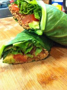 Smoky pecan, avocado, tomato wrap