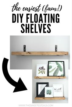 Easy DIY Floating Sh