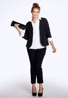 Black Smart Bengaline skinny plus size Pants - maurices.com