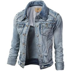 maurices Medium Wash Denim Jacket ($39) ❤ liked on Polyvore ...