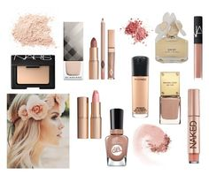 """Pretty beige"" by sofia-polyvore-lover ❤ liked on Polyvore featuring beauty, Burberry, Charlotte Tilbury, NARS Cosmetics, Marc by Marc Jacobs, MAC Cosmetics, Sally Hansen and Urban Decay"