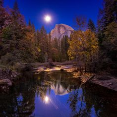 Moon Shine on Half Dome by Jim Feeler on 500px
