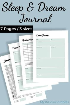 Improve your sleep cycle with the sleep and dream journal where you can plan your sleep and log your dreams to look for signs and dream patterns. Self Development, Personal Development, Sleep Journal, Journal Inspiration, Journal Ideas, Sleep Dream, Dream Journal, Life Purpose, Routine