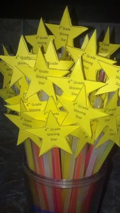 First day of school gifts - Glow sticks for my 4th Grade Shining Stars.