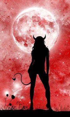 A little bit devilish ❤️ Demon Art, Ange Demon, Arte Horror, Horror Art, Devil Aesthetic, Beautiful Dark Art, Beautiful Pictures, Satanic Art, Arte Obscura