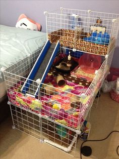 My finished hedgehog cage. Minor tweaks here and there but it's done! Diy Guinea Pig Cage, Guinea Pig House, Pet Guinea Pigs, Guinea Pig Care, Hedgehog Cage, Hedgehog House, Hedgehog Pet, Cavy Cage, Pet Cage