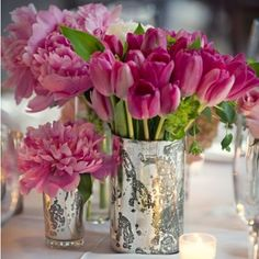 tulips fresh spring flower arrangement display  #coxandcox  #spring- pretty vases