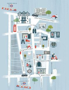 Magpie Li - Carnaby St. and Soho map