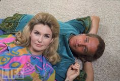 Joanne Woodward and Paul Newman in 1968. He was my all time heart throb!
