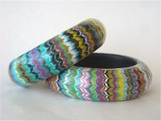 9. Beaux Bangles – These bangles are made entirely of polymer.  Start by making a bangle base, then creating a decorative veneer and finishing it to a professional standard.  You'll want to show off your bangle by shaking hands with everyone!.