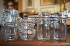 Lock Eat jars for canning and serving