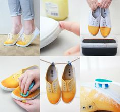 Painted shoes!!! These look so fun!!!! :D