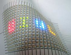 Flexible LED array created by drawing circuits on paper with a silver-ink pen