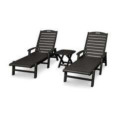 Trex Outdoor Furniture Yacht Club 3-Piece Chaise Set Large Furniture, Outdoor Furniture, Outdoor Decor, Detergent Bottles, Chair And Ottoman Set, Yacht Club, Thing 1, Sun Lounger, Stepping Stones