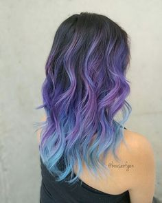 Purple and Blue Unicorn Hair colour and styling by @houseofgen . . . . #vancouverhair #vancityhair