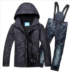 de2b19b5379 Men Ski Suit Ski Wear Skiing Snowboard Jacket Pant Windproof Waterproof  Breathable Outdoor Sport Wear Male