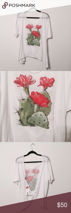 WILDFOX Open Back Cactus Shirt A new with tags, never been worn, cute WILDFOX shirt with an adorable open back look! Wildfox Couture Tops Tees - Short Sleeve