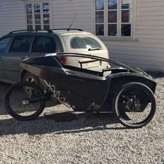 Electric assisted recumbent trike, First time on it's own wheels Go Karts, Electric Trike, Electric Cars, Velo Tricycle, Recumbent Bicycle, Solar Car, Reverse Trike, Moto Bike, Pedal Cars
