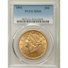 New ModernCoinWholesale.com Rare Coin of the day: Very Rare Uncirculated 1892 Liberty $20 PCGS MS61