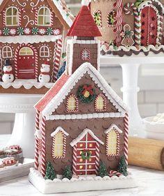 Love this Gingerbread Church Light-Up Décor on #zulily! #zulilyfinds