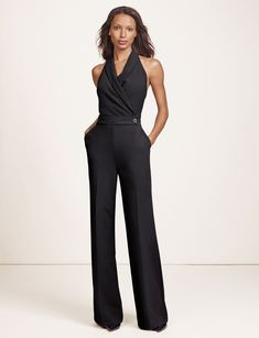Halter Jumpsuit-Elegant and confident, The Limited collection inspired by SCANDAL embodies the aesthetic of Olivia Pope for real-life Gladiators and everyday fashionistas. Elevated fabrics and details have a luxurious look and feel for powerfully sophisticated styling!
