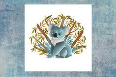 Playful Koala - Summer animals series Available as a postcard Dinosaur Stuffed Animal, Illustrations, Summer, Etsy, Cards, Animaux, Illustration, Summer Recipes, Summer Time