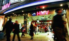 Shoppers outside HMV on Oxford Street, London