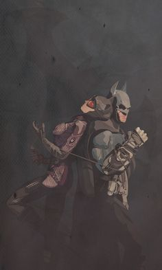 Arkham City's Batman and Catwoman by Michael Goodgame